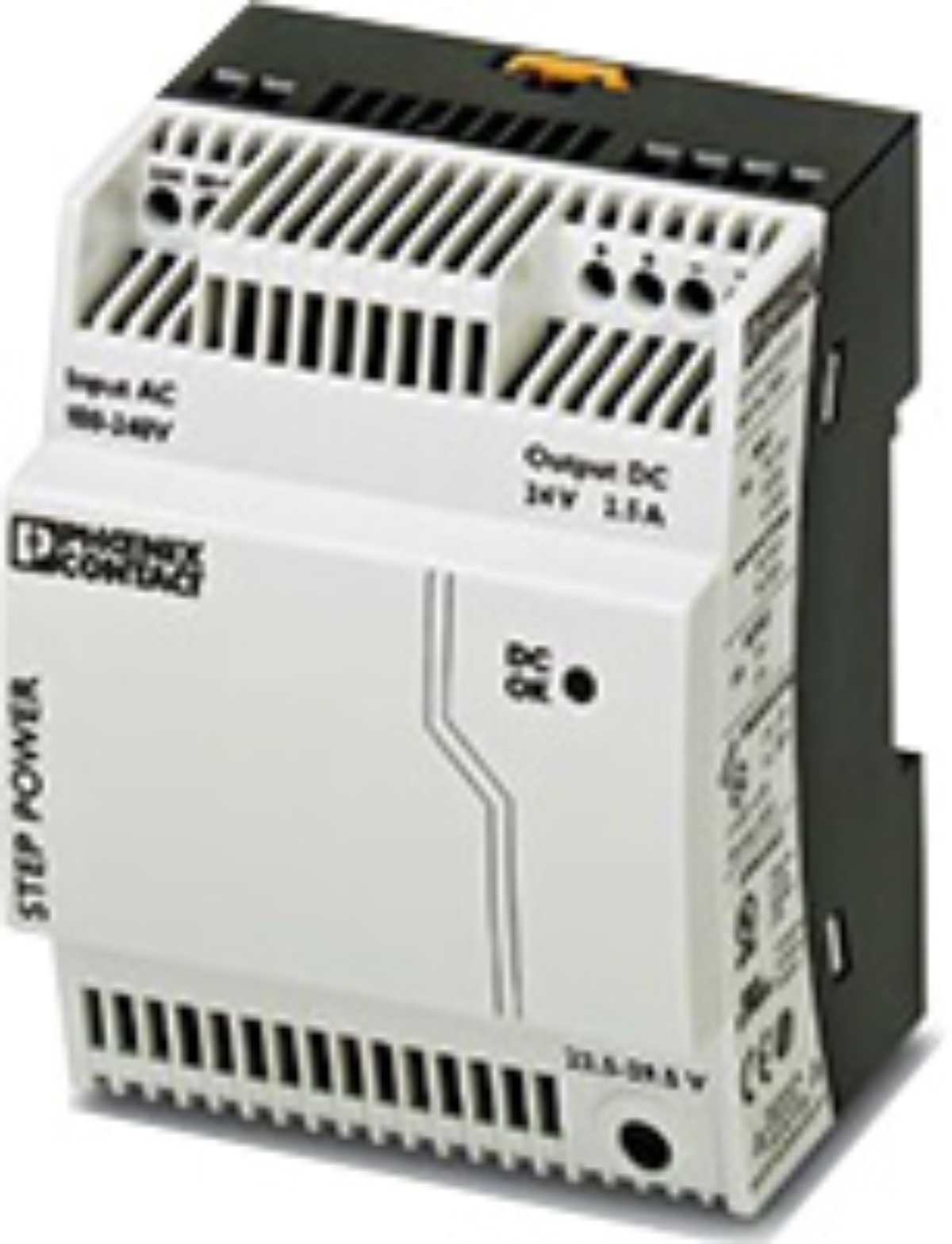 input: 1-phase output: 24 V DC//2.5 A Primary-switched STEP POWER power supply for DIN rail mounting STEP-PS// 1AC//24DC//2.5