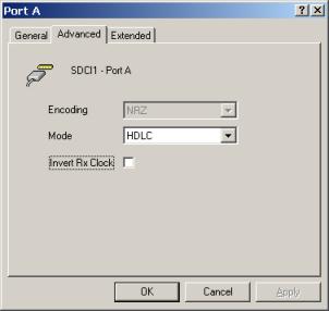 FarSync T1U config screen
