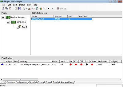Port Manager Configuration of a FarSync X.25 Flex
