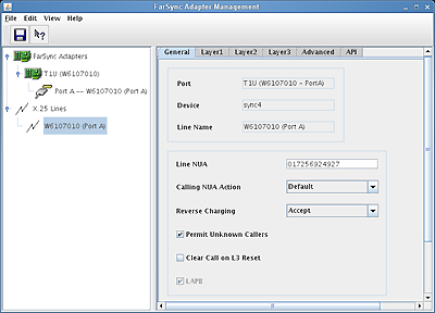 Linux - T1U X.25 configuration
