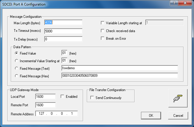 FSWDemo configuration