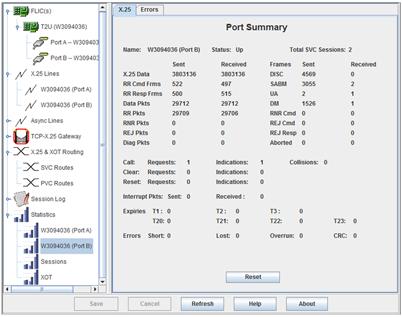 Ports summary stats