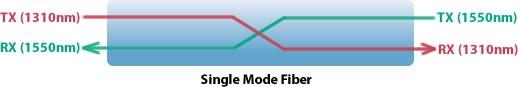 Single Mode Fiber Diagram
